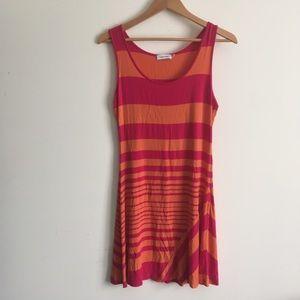 Calvin Klein | Pink and Orange Striped Dress 6